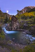 picture of water-mill  - Crystal Mill Wooden Powerhouse located on Crystal River Colorado - JPG