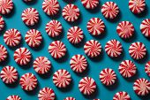 image of peppermint  - Sweet Red and White Peppermint Candy in a Bowl - JPG