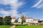 stock photo of bohemia  - gothic medieval Vyssi Brod monastery - JPG