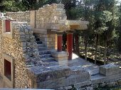 picture of minotaur  - The archaeological site of Knossos is sited 5 km southeast of the city of Iraklion  - JPG