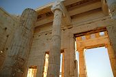 image of parthenon  - The Parthenon on the large background of blue sky - JPG