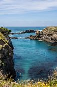 pic of mendocino  - A view of a bay along the Mendocino coast - JPG