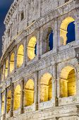 foto of elliptical  - The Colosseum or the Coliseum originally the Amphitheatrum Flavium an elliptical amphitheatre in Rome Italy - JPG
