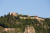 image of cleopatra  - The castle in Alanya built on the hill above the beach of Cleopatra - JPG
