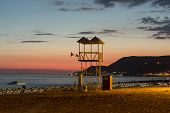 image of cleopatra  - The sunset at the Cleopatra beach in Alanya - JPG