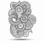 pic of mehndi  - Henna Paisley Mehndi Doodles Abstract Floral  Illustration Design Element - JPG