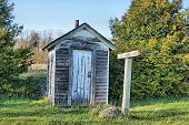 picture of outhouses  - This long - JPG