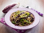 picture of chicory  - spaghetti with chicory and leek - JPG