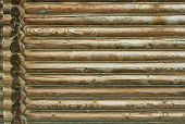 picture of log fence  - Log house - JPG