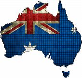 foto of abstract painting  - Australian map grunge mosaic,  Map of Australia, Australia Map,  Australia flag map - mosaic,  Australia map grunge mosaic, Flag of Australia,  Abstract Mosaic flag of Australia, The National flag of Australia, Grunge mosaic vector - JPG