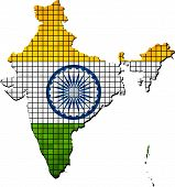picture of indian  - Indian map grunge mosaic, 