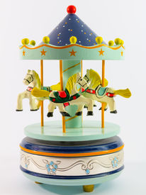 foto of merry-go-round  - sky blue merry - JPG