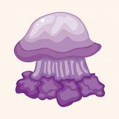 image of jellyfish  - Jellyfish Theme Elements Vector - JPG