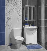 foto of bathroom sink  - A luxury interior of modern bathroom with sink and toilet - JPG