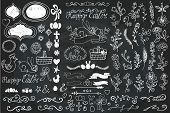 stock photo of baby easter  - Doodles easter decor elements set - JPG
