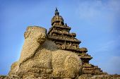 pic of tamil  - Ancient Shore Temple at Mahabalipuram - JPG