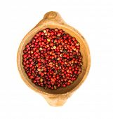 picture of peppercorns  - Pink peppercorn isolated on white - JPG