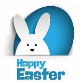 stock photo of white rabbit  - Vector  - JPG