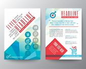 pic of polygon  - Abstract Typography polygon Brochure Flyer design Layout vector template in A4 size - JPG