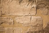 pic of sedimentation  - old egypt hieroglyphs carved on the stone - JPG
