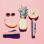 foto of vanilla  - Summer beach set - JPG