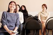 pic of middle class  - Group of womans sitting in education class - JPG