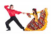 foto of gypsy  - Gypsy flamenco dancer couple - JPG