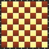 picture of chessboard  - Classic chessboard with field markings - JPG