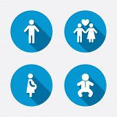 image of child-birth  - Family lifetime icons - JPG