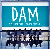 stock photo of dam  - DAM Digital Asset Management Organization Concept - JPG