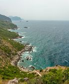 picture of naturist  - The panorama view of city beach in Montenegro - JPG
