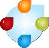 image of four  - blank business strategy concept diagram illustration outward direction arrows four 4 - JPG