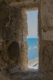 pic of larnaca  - Window in Larnaca Medieval Fort - JPG