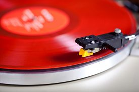 picture of cartridge  - Analog Stereo Turntable Vinyl Red Record Player Headshell Cartridge - JPG