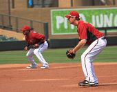 Arizona Diamondbacks Infielders Tony Abreu and Kelly Johnson