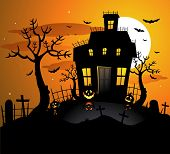 Fondo de halloween haunted house