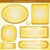 Постер, плакат: Золото вектор стикер