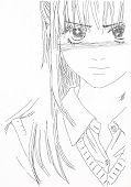 Drawing In The Style Of Anime. Picture Of A Girl In The Picture In The Style Of Japanese Anime. poster