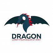Dragon Logo. Chinese Dragon. Vector Flat Illustration. poster