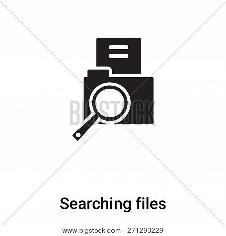 Searching Files Icon In Trendy
