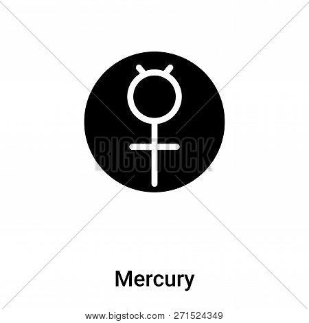 Mercury Icon In Trendy Design