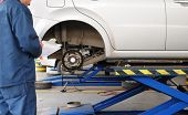 stock photo of car repair shop  - Auto repair shop - JPG