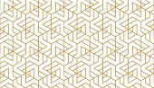 The Geometric Pattern With Lines. Seamless Vector Background. White And Gold Texture. Graphic Modern poster