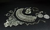 Beautiful Oriental Silver Jewelry (indian, Arab, African, Egyptian). Fashion Exotic Accessories, Asi poster