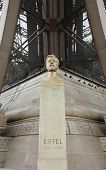 Statue Of The Engineer Gustave Eiffel, The Designer Of The Very Large And Famous Eiffel Tower In Par poster