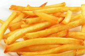 French Fries Isolated / Fry Potato Isolated On White Background poster