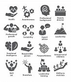 Business Management Icons Pack 46 Icons For Leadership, Director, Career poster