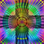stock photo of psychodelic  - Computer generated illustration of colorful psychodelic pattern - JPG