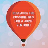 Text Sign Showing Research The Possibilities For A Joint Venture. Conceptual Photo Make A Partnershi poster