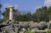 pic of olympic stadium construction  - Ancient Olympia the cradle of the Olympic games in Greece - JPG
